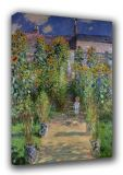 Monet, Claude: The Artist's Garden at Vetheuil. Fine Art Canvas. Sizes: A3/A2/A1 (00767)